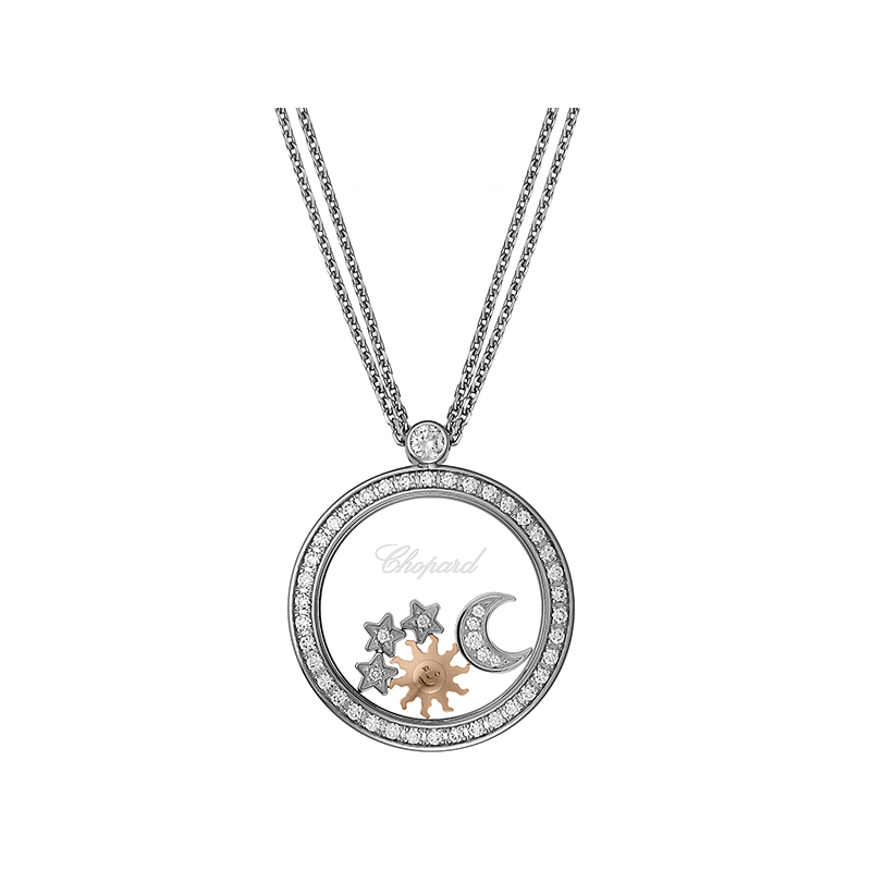 Happy Diamonds Happy Sun, Moon & Stars Collier