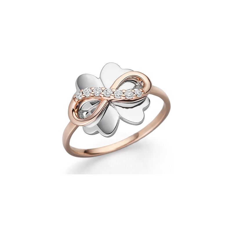 Endless Lucky Leaf Ring