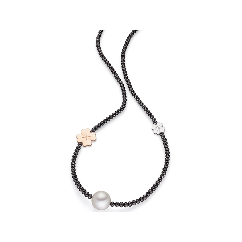 Day& Night Lucky Leaf Collier