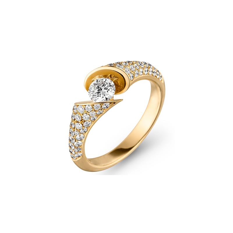Calla Solitaire Ring