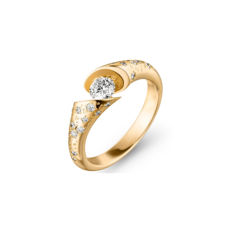 Calla Solitaire Ring