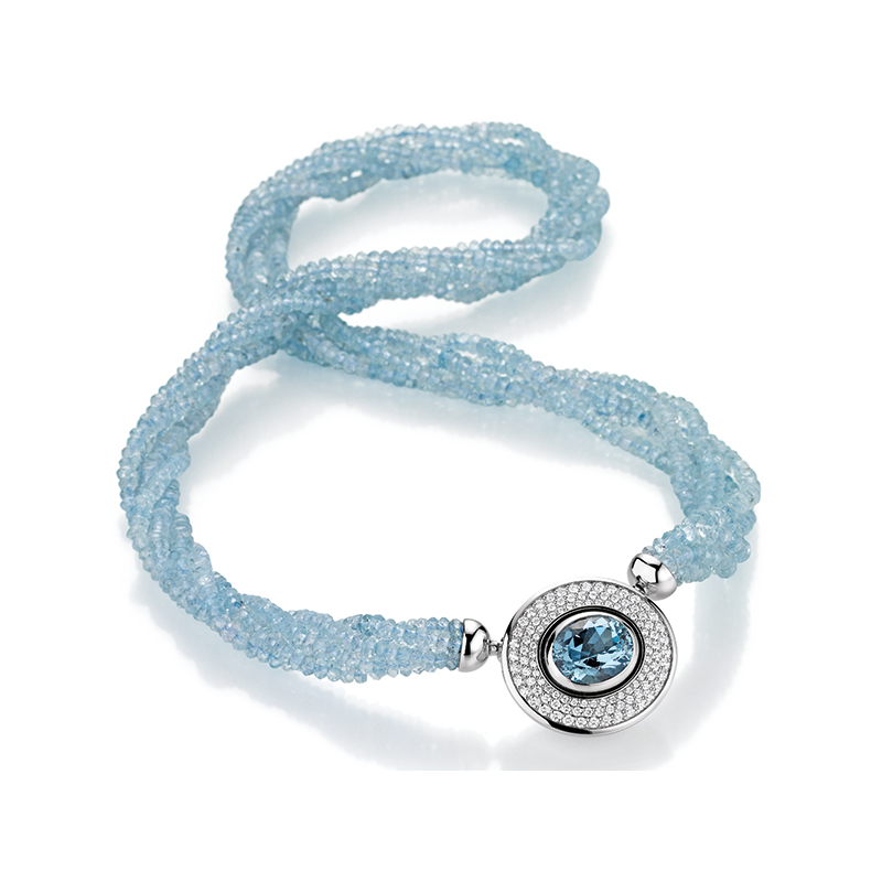 (E)MOTION Aquamarin Collier
