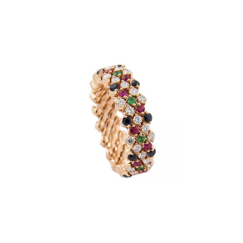 """Brevetto Multi-Size """"Multicolor""""-Ring"""
